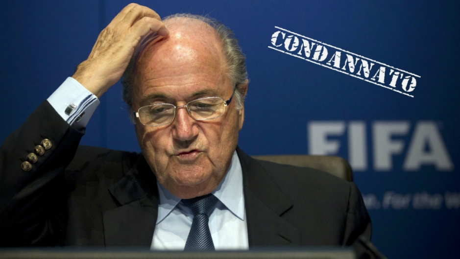 Otto anni di squalifica per Blatter