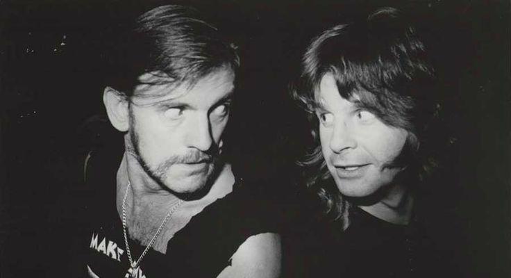 Lemmy in compagnia del suo grande amico Ozzy Osbourne
