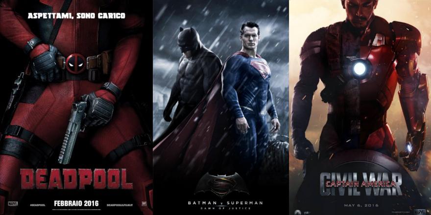 Cinecomic più attesi del 2016