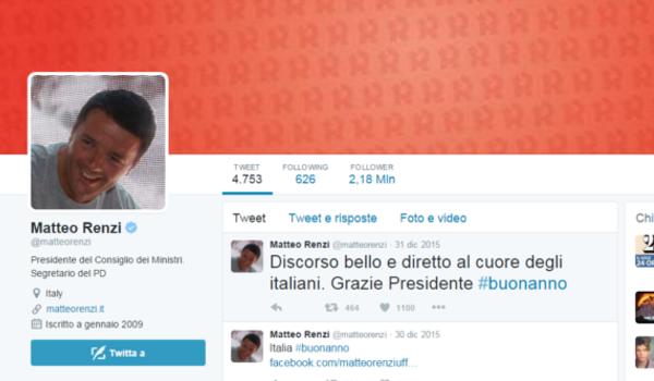 Renzi, il più twittato