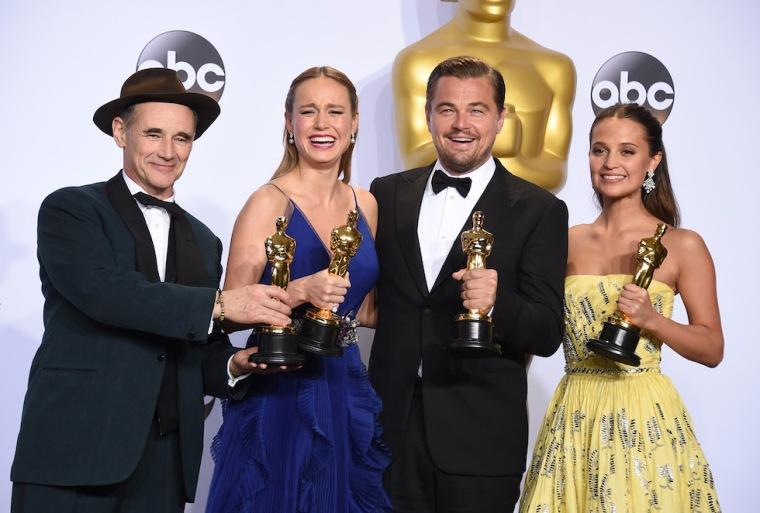 Mark Rylance, Brie Larson, Leonardo DiCaprio e Alicia Vikander