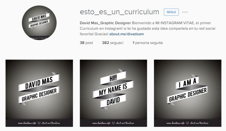 Curriculum Instagram