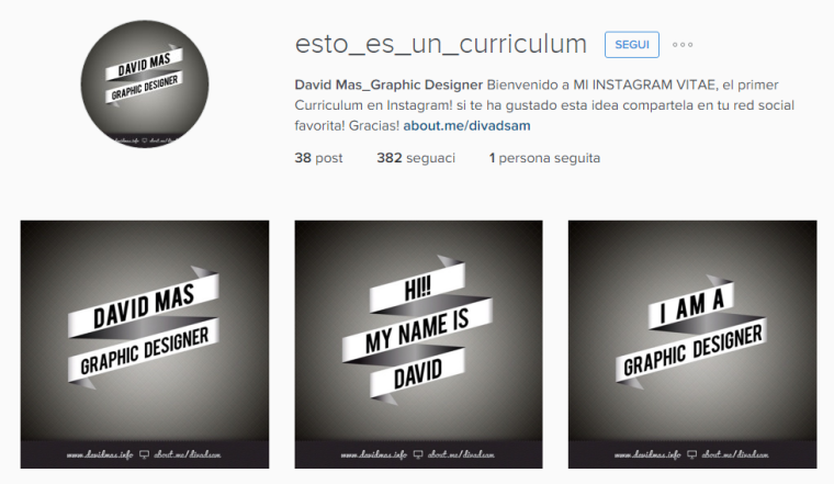 Curriculum Instagram